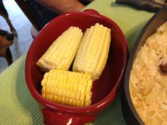 Corn on the cob for one in a mini Beanpot.  Shuck corn.  Add pat if butter. Microwave on veggie setting for five minutes.  Enjoy