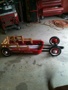 Baby rat rod wagon with brass knuckles handle!