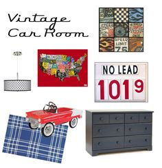 Vintage car nursery idea