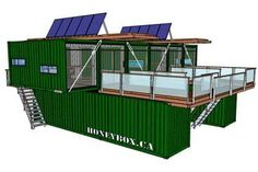 Container House - HoneyBox INC. shipping container architecture - Who Else Wants Simple Step-By-Step Plans To Design And Build A Container Home From Scratch? Shipping Container Buildings, Shipping Container Cabin, Cargo Container Homes, Shipping Container Home Designs, Storage Container Homes, Building A Container Home, Container House Plans, Shipping Containers, Container Design