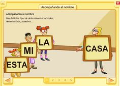 Determinantes demostrativos y posesivos--This blog has a lot of grammar resources designed for native Spanish speakers.  Good authentic language use!