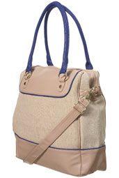 canvas blue flash holdall bag $72