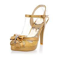Patent Leather Sparkling Glitter Stiletto Heel Pl... – USD $ 29.99