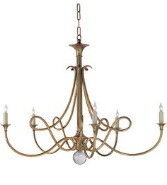 Lighting New York | Visual Comfort Studio Eric Cohler Large Double Twist Chandelier in Hand-Rubbed Antique Brass SC5005HAB