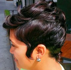 Hair long cut life ideas for 2019 Short Sassy Hair, Cute Hairstyles For Short Hair, Pretty Hairstyles, Short Hair Cuts, Curly Hair Styles, Natural Hair Styles, Pixie Cuts, Pixie Styles, Short Styles