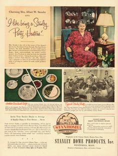 vintage ad stanley party hostess stanhome stanley home products ebay