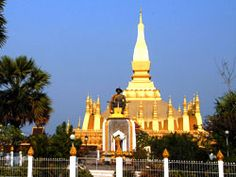 Vientiane - That Luang, the Golden Stuppa, considered a symbol of Lao because it's one of the first that isn't French influenced.