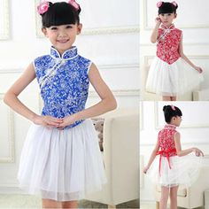 Traditional little girl Chinese dress