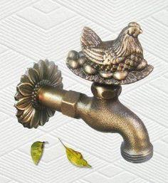 Amazon.com: Brass Hen with Eggs Garden Faucet: Patio, Lawn & Garden