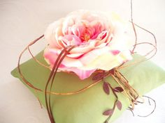 Shabby Chic Wedding Ring Pillow Secret Garden by creations4brides, $34.00