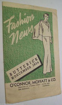 Butterick Fashion News, December 1934 featuring Butterick 5953?