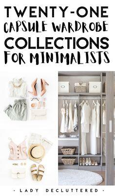 Minimal Wardrobe, Simple Wardrobe, Wardrobe Ideas, Wardrobe Room, Wardrobe Organisation, Organisation Ideas, Organization, Organizing, Casual Dress Outfits