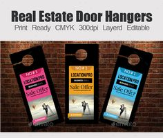 Real Estate Door Hanger Template real estate door hangers template | door hanger template, font