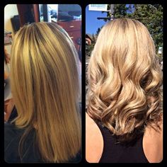 Go Blonder with Olaplex!! Hair Cut Colored & Styled By Charlene Bancel. Halo Designs Salon.
