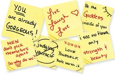 positive post it note sayings | Post It Note Quotes