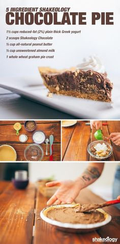 Our favorite Shakeology dessert is chocolate pie because--wait we don't need to explain; it's CHOCOLATE PIE. Check our our Healthy Chocolate Pie recipe! Chocolate Pie Recipes, Chocolate Pies, Healthy Chocolate, Chocolate Mouse, Homemade Chocolate, White Chocolate, Shakeology Chocolat, Chocolate Shakeology, Tater Tots