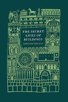 The Secret Lives of Buildings by Edward Hollis. Cover by Joe McLaren Ex Libris, Book Cover Art, Book Cover Design, Book Art, Gravure Illustration, Book Illustration, Guy Debord, Vintage Book Covers, Vintage Books