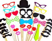 Items similar to Photo Booth Party Props, 15 Piece Set, Photobooth Wedding Photo Props on Etsy. , via Etsy.