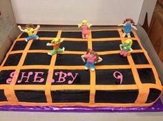 Altitude Trampoline jump cake 12th Birthday Cake, 4th Birthday Parties, Boy Birthday, Birthday Ideas, Trampoline Cake, Trampoline Jump, Monster High Birthday, Big Cakes, Its My Bday