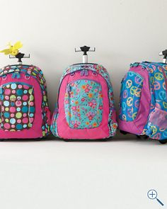 Gear-Up Neon Patchwork Rolling Backpack #westelm | School ...