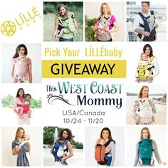 Pick Your Own LILLEbaby Carrier Giveaway
