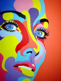 Nattyskip new pop art - drawings - Art Photography Portrait, Pop Art Portraits, Pop Art Drawing, Art Drawings, Abstract Face Art, Painting Abstract, Pop Art Illustration, Art Illustrations, Mosaic Crafts