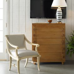 Bunny Williams Home Button Down Cerused Oak Chest @Zinc_Door