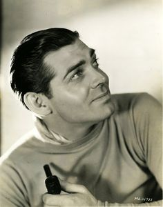 Clark Gable without mustache!  I never liked his mustache.  He was much more handsome without it.