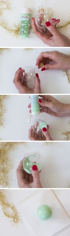 DIY Paint Filled Ornaments