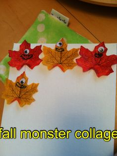 Artist of the Day Bee, Age 4 We couldn't resist these fall monsters.  What a great autumn craft!  kidart