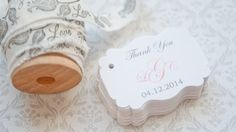 Gift Tags-Wedding Favors-Bridal Shower favors-Baby Shower Favors-Wedding Thank you Tags - Set of 40 on Etsy, $16.00