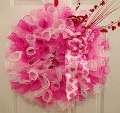 mesh wreaths | Deco Mesh Valentine Wreath | Wreaths