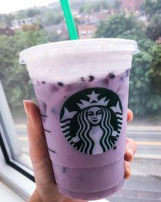"The New Starbucks ""Rainbow Drinks"" Ranked - Starbucks drinks - Kaffee Starbucks Blue Drink, Bebidas Do Starbucks, Healthy Starbucks Drinks, Yummy Drinks, Starbucks Tea, Purple Drinks, Colorful Drinks, Milk Shakes, Homemade Starbucks Recipes"