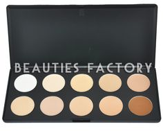 100% Brand New in retail package  10 Colors Camouflage & Concealer Palette (Cream Texture)  Brand : Beauties Factory  Color Version #1 (Starters)  Texture : Cream  Hide the unwanted with the new 10 color camouflage and concealer palette.  Silky glossy colour and high quality ingredients together to care skin around and can last for all day long.  It is perfect for Professional Salon, Wedding, Party and Home use.  Case Size: 23cm x 16cm x 1cm  Diameter of each color : 3.5cm  Price: £10.99