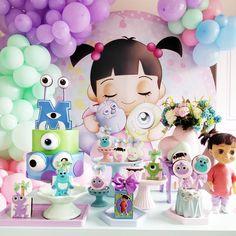 Monster University Birthday, Monster Inc Birthday, Monster Inc Party, Gold Party Decorations, Birthday Decorations, Monsters Inc Decorations, Princess Sofia Birthday, Monsters Inc Boo, Happy Brithday