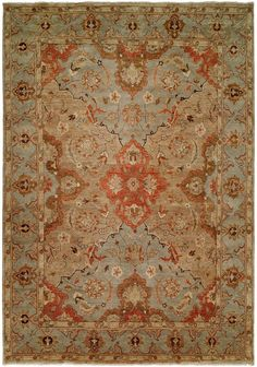 Rugstudio Presents Famous Maker Oushak 560 Hand Knotted Best Quality Area Rug