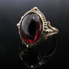 #Pyrope #Garnet #Ring 9k #Gold #Jewelry #The #Antiques #Room #Galway #Ireland Vintage Diamond, Vintage Rings, Unique Vintage, Vintage Jewelry, Garnet Rings, Diamond Rings, Diamond Engagement Rings, Gemstone Rings, Gold Jewelry