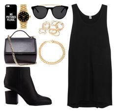 """""""Untitled #79"""" by alessandrameaw on Polyvore featuring Oak, Alexander Wang, Givenchy, Casetify, Smoke & Mirrors, Marc by Marc Jacobs, Alessandra Rich and JFR"""