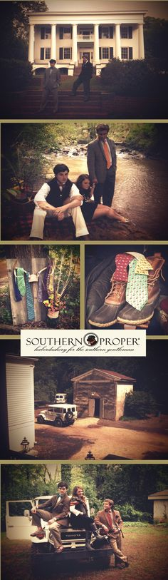 'Southern Proper' for 'Town & Country' #men's #apparel #preppy