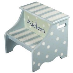 Renditions by Reesa Twinkle Personalized 2-Step Step Stool