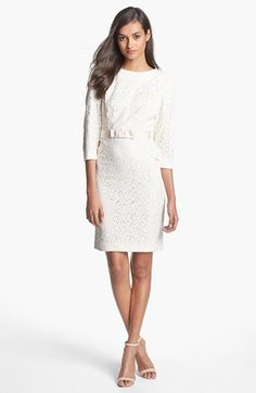 ade931e2e1 Taylor Dresses Ribbon Trim Lace Sheath Dress available at  Nordstrom Maybe  for the rehearsal dinner