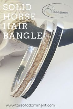 The solid bangle is s very durable keepsake as the hair is protected by the Sterling Silver. Braided Bracelets, Strand Bracelet, Horse Hair Bracelet, Equestrian Jewelry, Infinity Charm, Locket Charms, Sterling Silver Cuff Bracelet, Silver Charms, Bangles