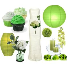 all things green - but maybe a green dress instead...
