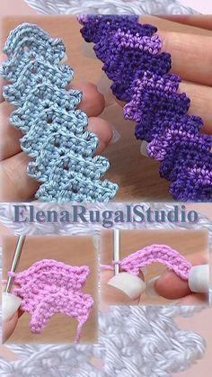 projects to sell free pattern simple Classic Crochet Cord Lace Stripe Tutorial 1 Сrochê Crochet Necklace Pattern, Crochet Belt, Bead Crochet Patterns, Crochet Headband Pattern, Crochet Diagram, Crochet Hook Sizes, Thread Crochet, Crochet Designs, Crochet Simple