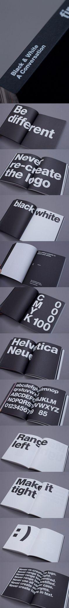 "First Firect - Brand Guidelines ""A Black & White Conversation"" via http://andrewlloydjones.com/first-direct-branding/ #Branding"