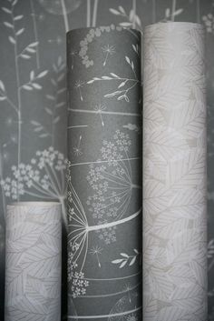 Paper meadow Wallpaper (etc) in Charcoal by Hannah Nunn http://www.hannahnunn.co.uk/products/wallpaper/paper-meadow-wallpaper-in-charcoal.html.  photo by www.sarahmasonphotography.co.uk Inspirational Wallpapers, Kids Wallpaper, Print Patterns, Living Spaces, Charcoal, Surface, Homes