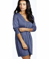 boohoo Marl Fine Knit Oversized Jumper Dress - blue No off-duty wardrobe is complete without a casual day dress. Basic bodycon dresses are always a winner and casual cami dresses a key piece for pairing with a polo neck , giving you that effortless eve http://www.comparestoreprices.co.uk/womens-clothes/boohoo-marl-fine-knit-oversized-jumper-dress--blue.asp