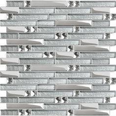 Crystal Glass Plated Interlocking Mosaic Tile Mirror Wall Diamond Tile Backsplash