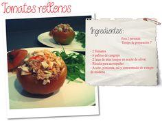 RECETA: Tomates rellenos, healthy food, comida sana