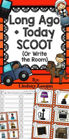 Your students will love reviewing long ago and today by scooting around the room with this fun activity!